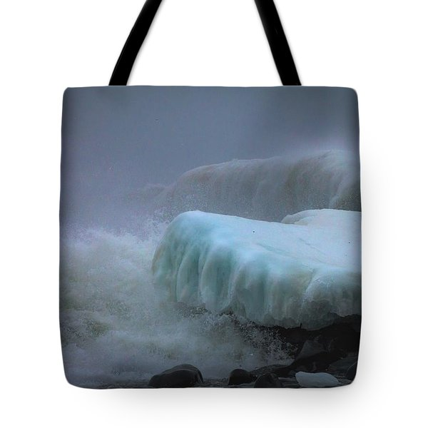Surging Sea Tote Bag by Mary Amerman