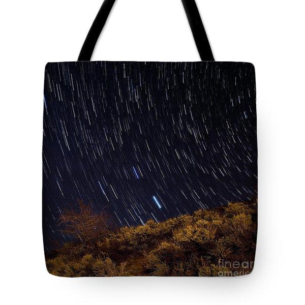 Surprise Trailhead Startrails Tote Bag by Benjamin Reed