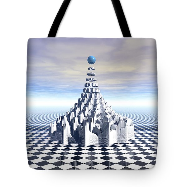 Surreal Fractal Tower Tote Bag by Phil Perkins