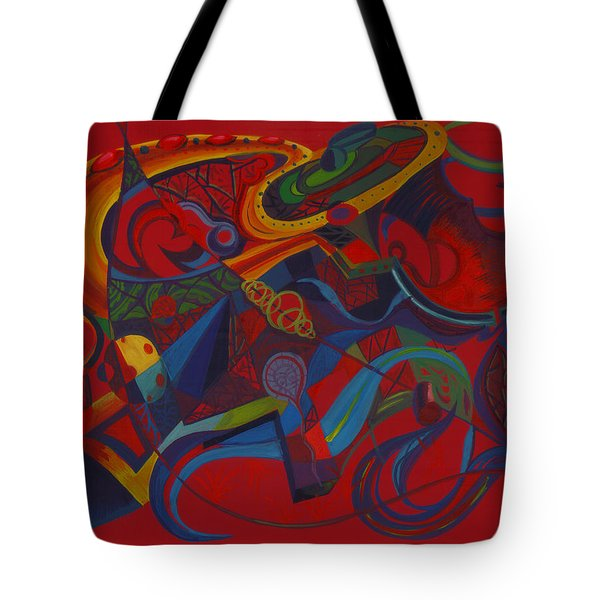 Surreal Medieval Weaponry Tote Bag by Shawna  Rowe