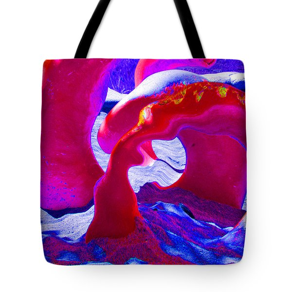 Surreal Sea Serpent Tote Bag by Art Block Collections