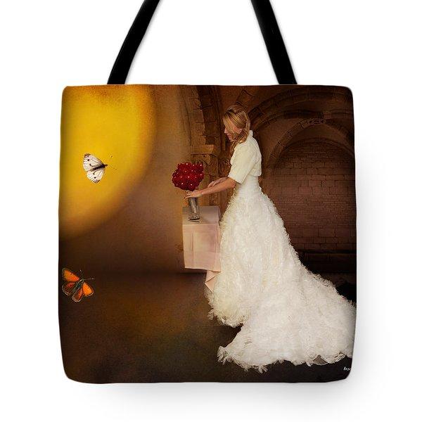 Surreal Wedding Tote Bag by Angela A Stanton