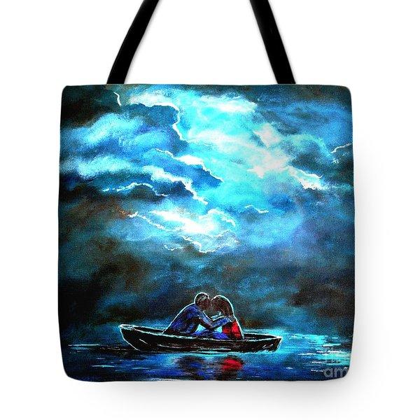 Surviving The Storm Tote Bag by Leslie Allen