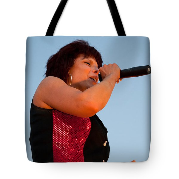 Suzanne Fox of The Fabulous Kingpins Tote Bag by David Patterson