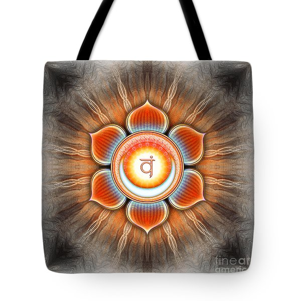 Svadhisthana Chakra Series Iv Tote Bag by Dirk Czarnota