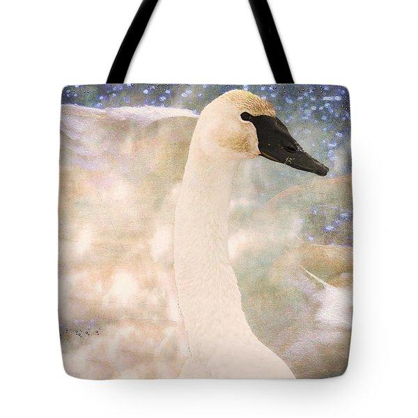 Swan Journey Tote Bag by Kathy Bassett
