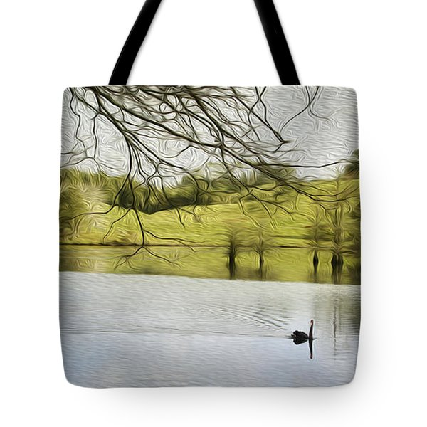 Swan lake Tote Bag by Les Cunliffe