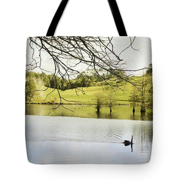 Swan Tote Bag by Les Cunliffe