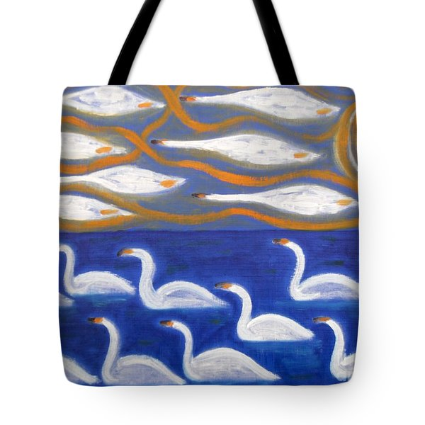 SWANS Tote Bag by Patrick J Murphy