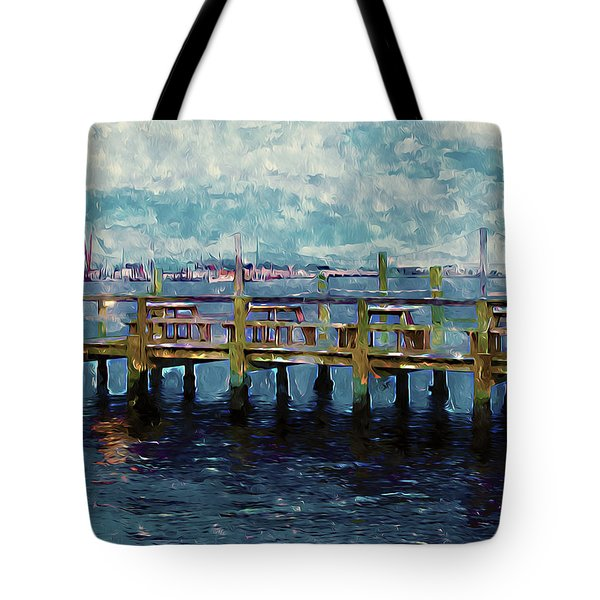Swansboro Dock 1 Tote Bag by Lanjee Chee