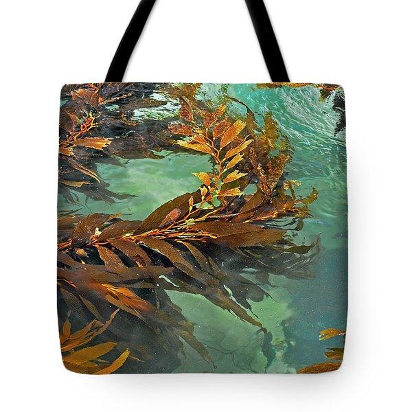 Swaying Seaweed Tote Bag by Susan Wiedmann
