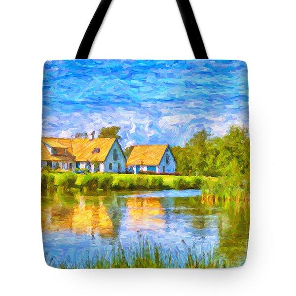 Swedish lakehouse Tote Bag by Antony McAulay