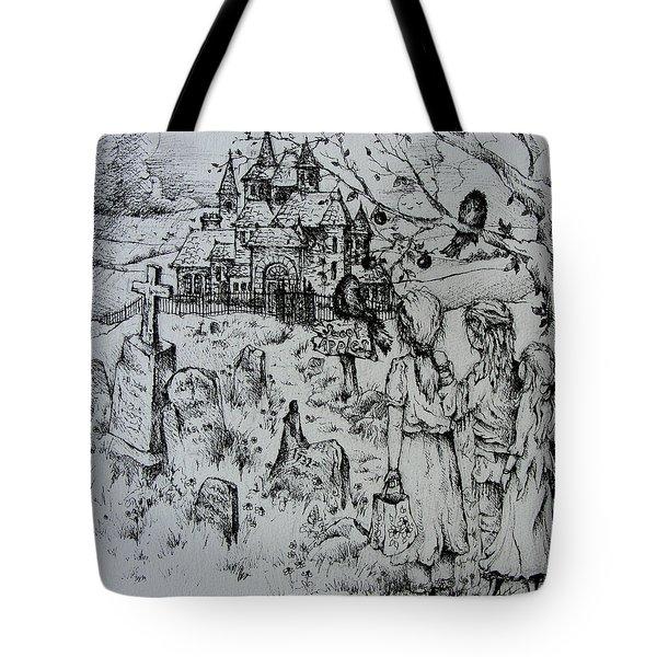 Sweet Apples Tote Bag by Rachel Christine Nowicki