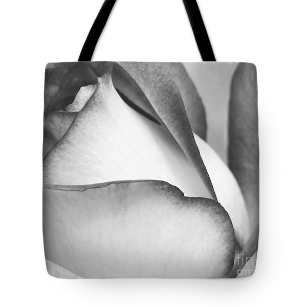 Sweet Black And White Rose Tote Bag by Sabrina L Ryan