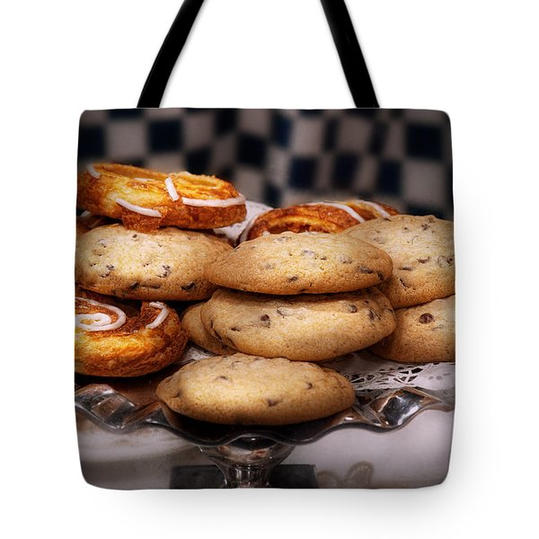 Sweet - Cookies - Cookies and Danish Tote Bag by Mike Savad