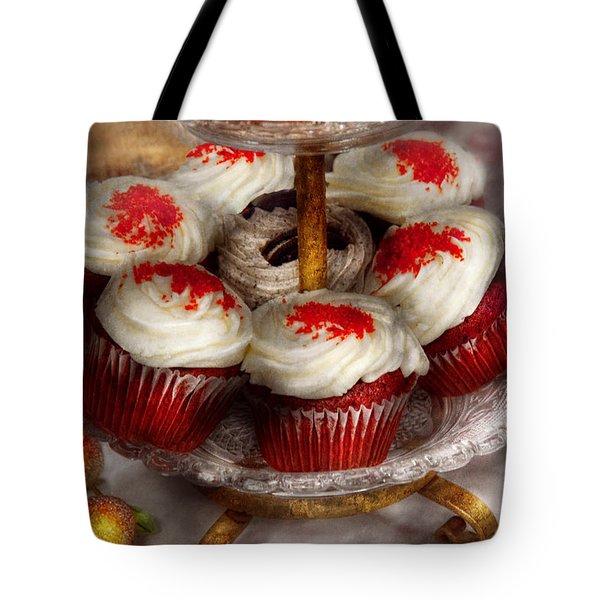 Sweet - Cupcake - Red velvet cupcakes  Tote Bag by Mike Savad