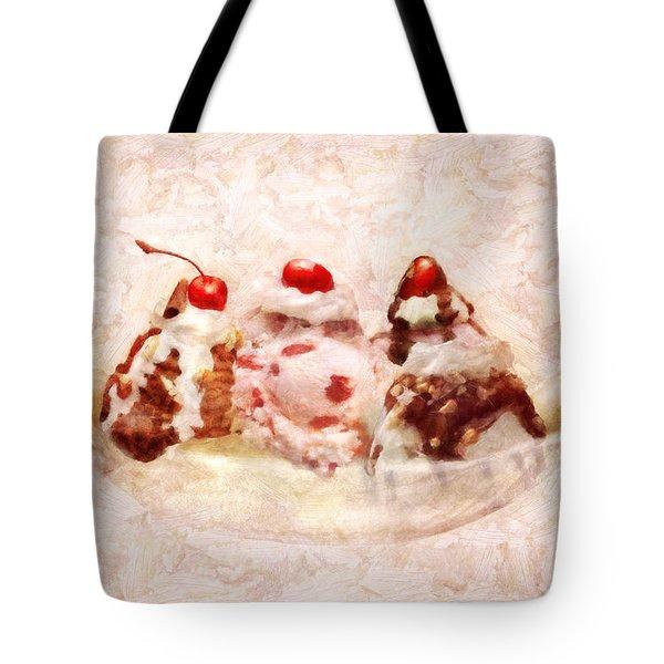 Sweet - Ice Cream - Banana split Tote Bag by Mike Savad