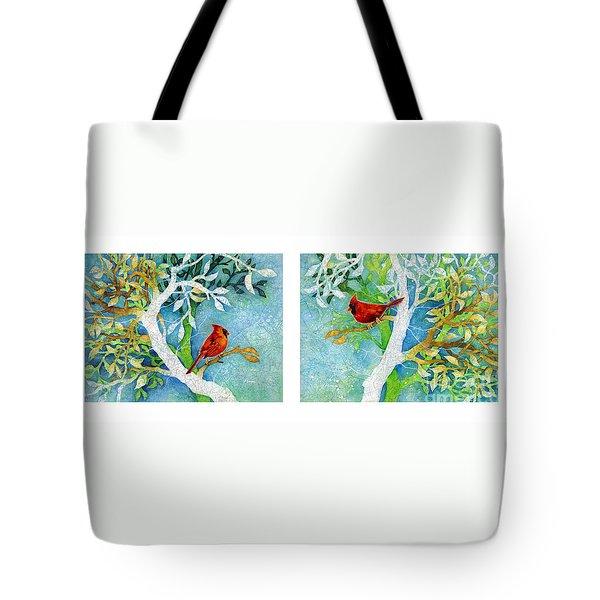 Sweet Memories Diptych Tote Bag by Hailey E Herrera
