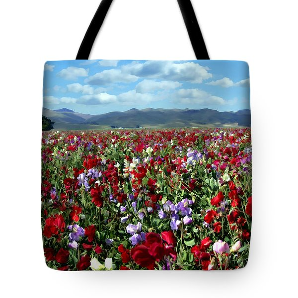 Sweet Peas Forever Tote Bag by Kurt Van Wagner