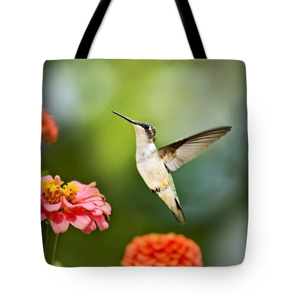Sweet Promise Hummingbird Tote Bag by Christina Rollo