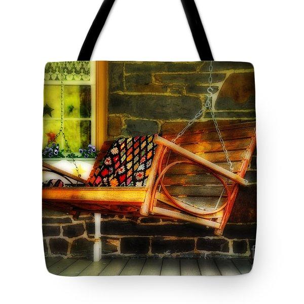 Swing Me Tote Bag by Lois Bryan