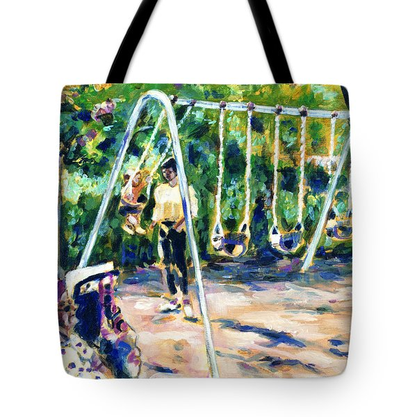Swings Tote Bag by Faye Cummings