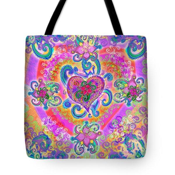 Swirley Heart Variant 1 Tote Bag by Alixandra Mullins
