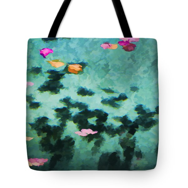Swirling Leaves And Petals 4 Tote Bag by Scott Campbell