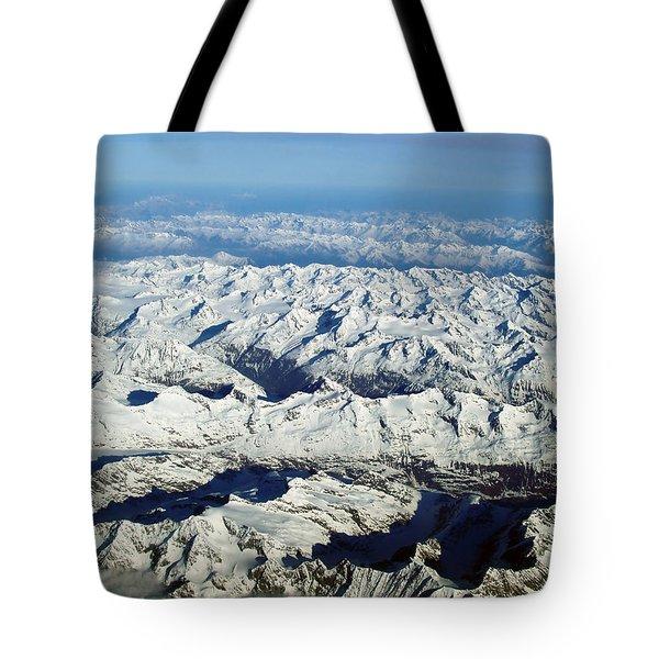 Swiss Alps Tote Bag by Ellen Henneke