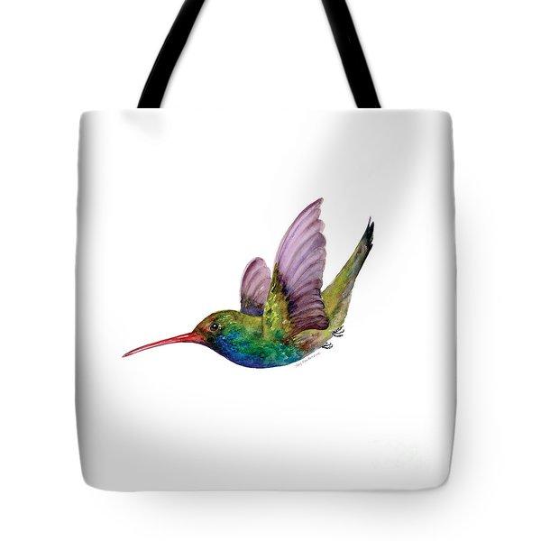 Swooping Broad Billed Hummingbird Tote Bag by Amy Kirkpatrick