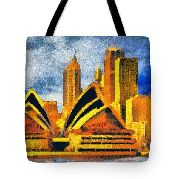 Sydney Opera House Tote Bag by George Rossidis