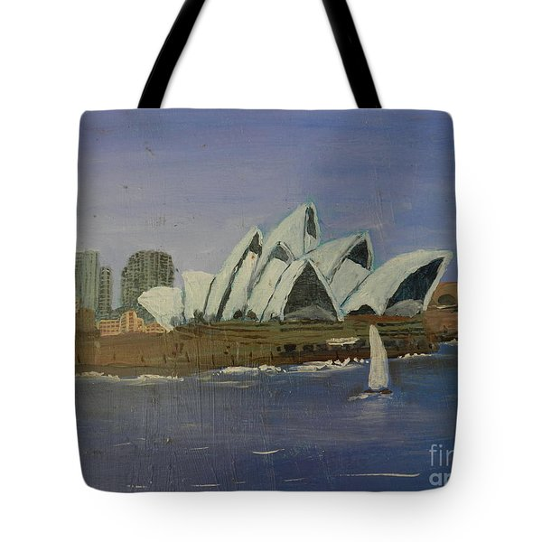 Sydney Opera House Tote Bag by Pamela  Meredith