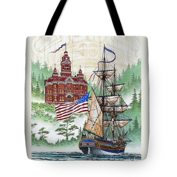 Symbols of Our Heritage Tote Bag by James Williamson