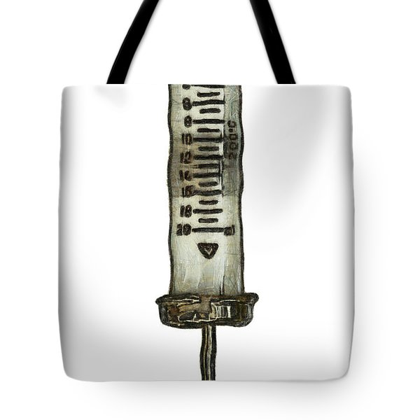 Syringe Tote Bag by Michal Boubin