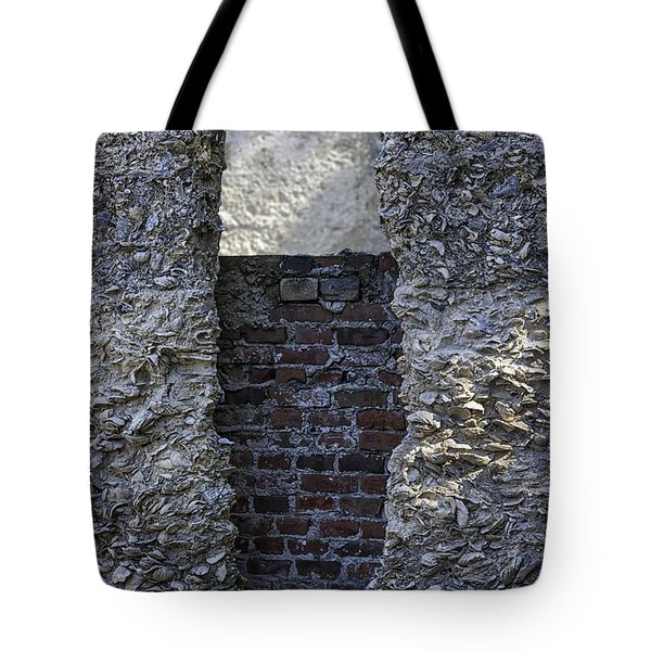 Tabby Wall With Red Brick Infill Tote Bag by Lynn Palmer