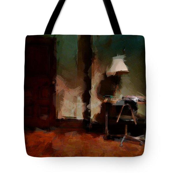Table Lamp Chair Tote Bag by H James Hoff