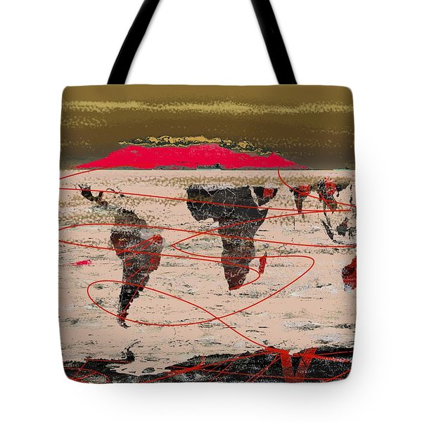 Table Mountain World Tote Bag by Andre Pillay