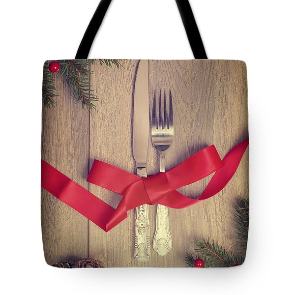 Table Setting Tote Bag by Amanda And Christopher Elwell