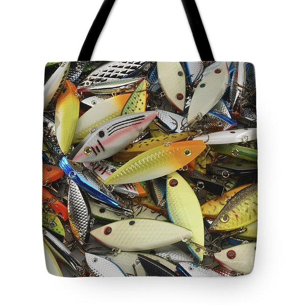 Tackle Box Tangle Tote Bag by Jerry McElroy