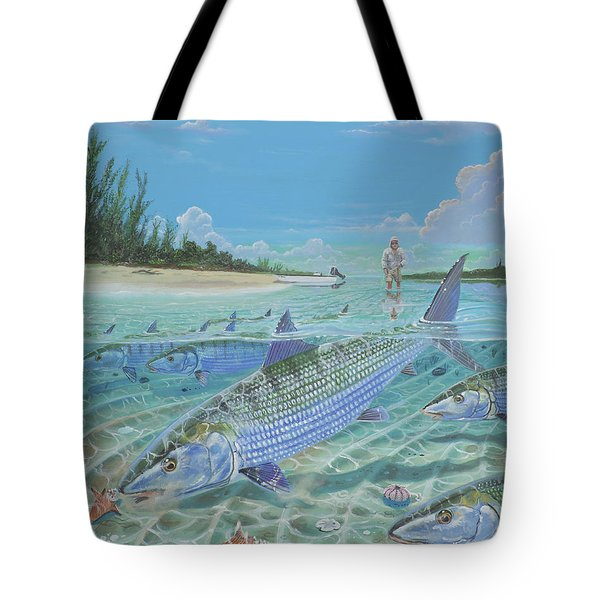 Tailing Bonefish In003 Tote Bag by Carey Chen