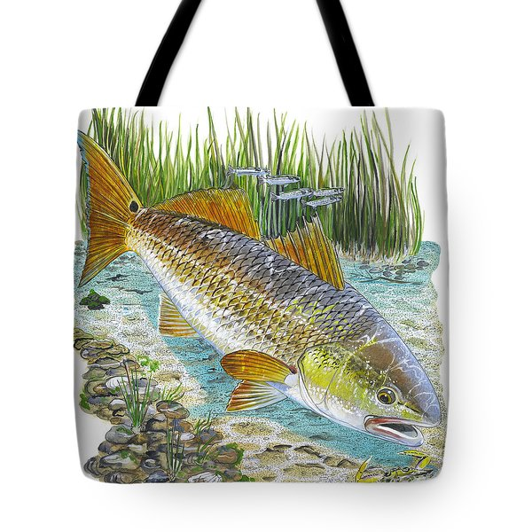 Tailing Red Tote Bag by Carey Chen