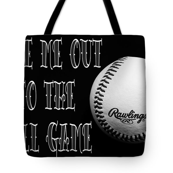 Take Me Out To The Ball Game - Baseball Season - Sports - B W 2 Tote Bag by Andee Design