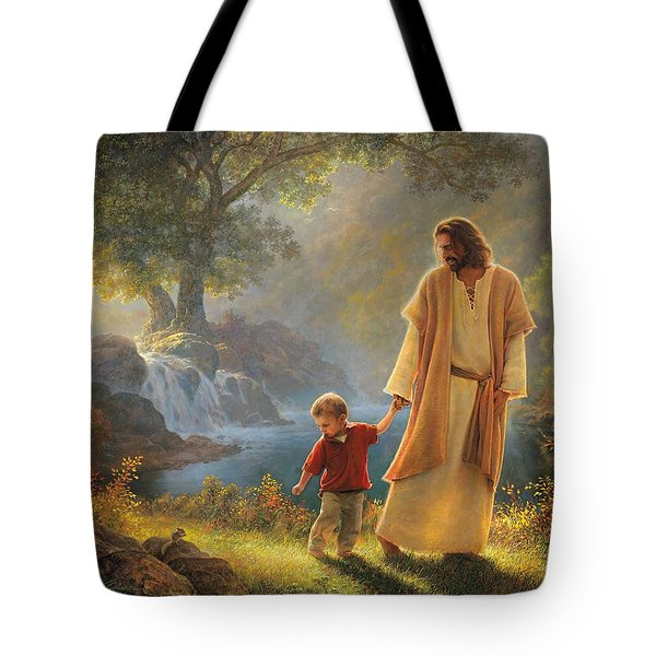 Take My Hand Tote Bag by Greg Olsen