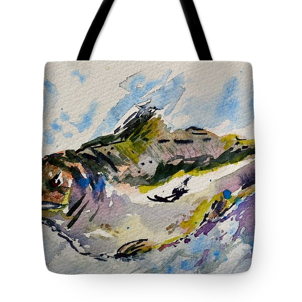 Take The Bait Tote Bag by Beverley Harper Tinsley