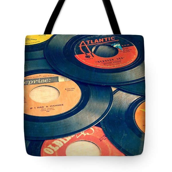 Take Those Old Records Off The Shelf Tote Bag by Edward Fielding