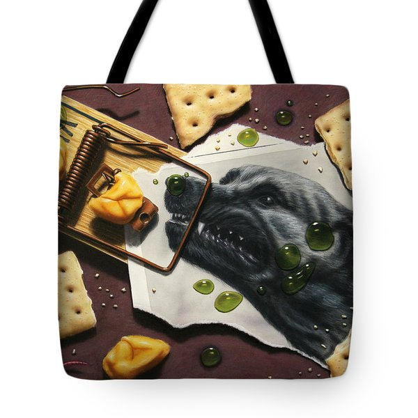 Taking The Bait Tote Bag by James W Johnson
