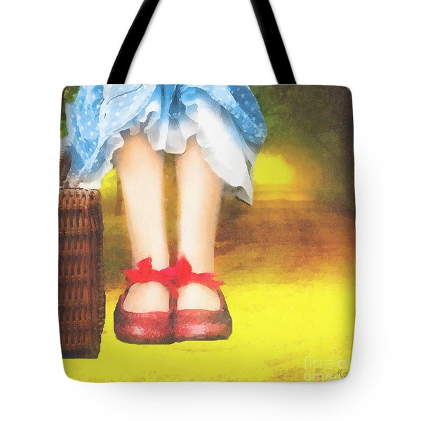 Taking Yellow Path Tote Bag by Mo T