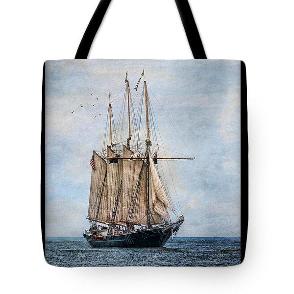 Tall Ship Denis Sullivan Tote Bag by Dale Kincaid