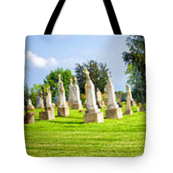 Tall Tombstones Panorama Tote Bag by Thomas Woolworth