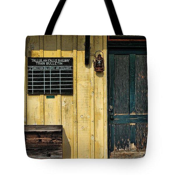 Tallulah Falls Rail Bulletin Tote Bag by Kenny Francis